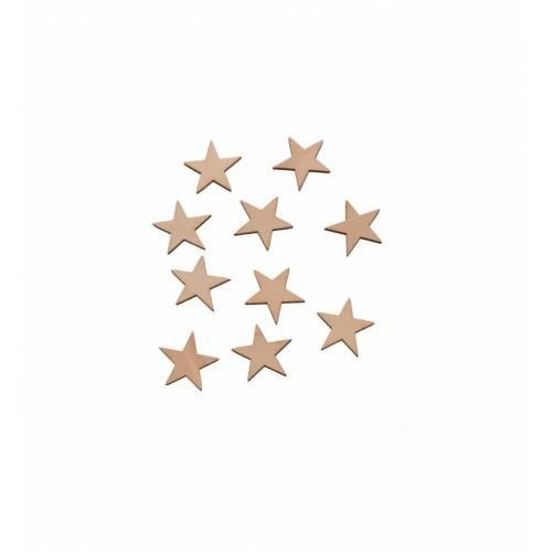 Scrapki drewniane gwiazdki do decoupage 2cm komplet 10szt
