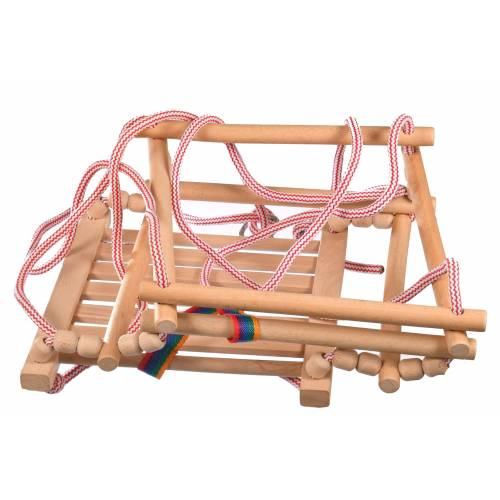 Drewniana huśtawka dla dzieci kolor naturalny