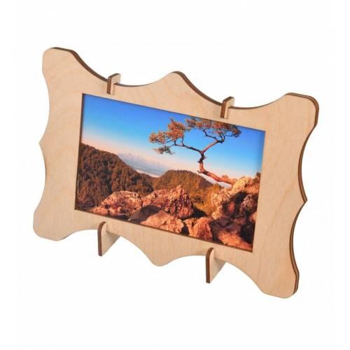 Drewniana ramka na zdjęcia dekoracyjna