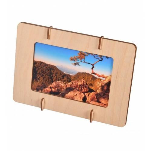 Drewniana ramka na zdjęcia dekoracyjna 15x10cm na PREZENT