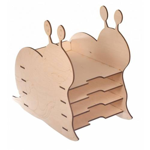 Drewniany organizer na biurko ŚLIMAK