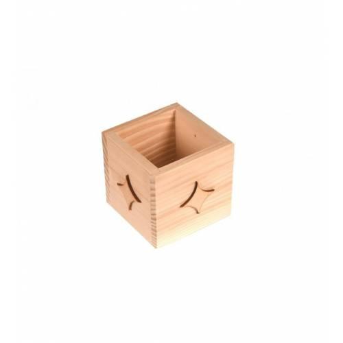 Drewniany kubek przybornik GWIAZDECZKI