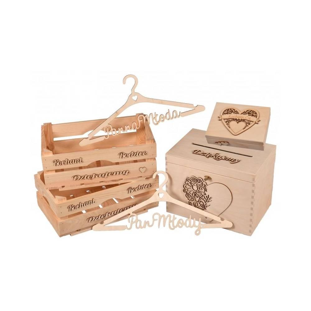 Drewniany zestaw ŚLUBNY