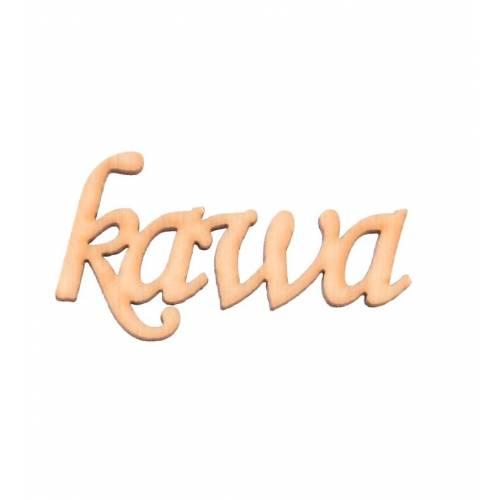 Napis drewniany KAWA
