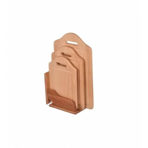 Komplet desek drewnianych ze stojakiem 3szt
