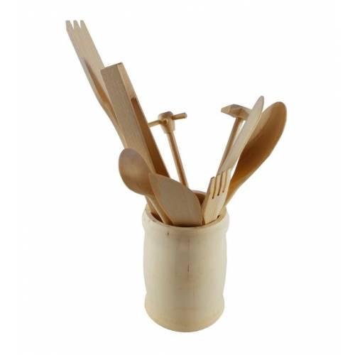 Zestaw drewnianych sztućców kuchennych 10szt