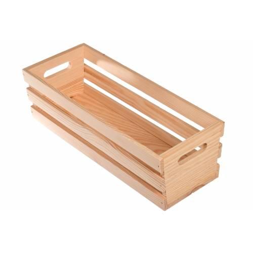 Drewniana osłonka na doniczki mała