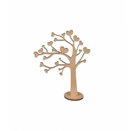 Drzewko z sercami dekor