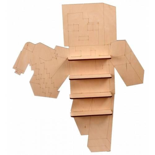 PÓŁKA drewniana dla dziecka na figurki MINECRAFT