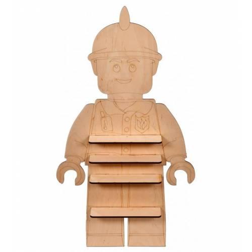 PÓŁKA drewniana dla dziecka na figurki LEGO