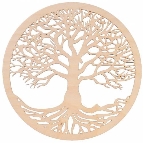 Dekoracja drewniana ścienna drzewo 24cm