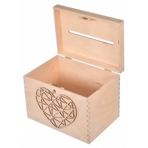 Pudełko na koperty z sercem