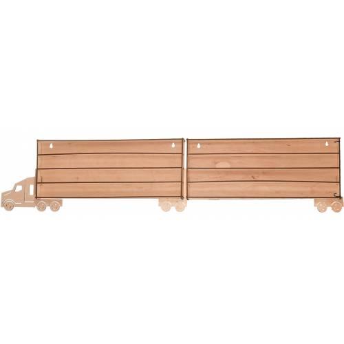 Tir drewniany organizer na resoraki z podwójną przyczepką