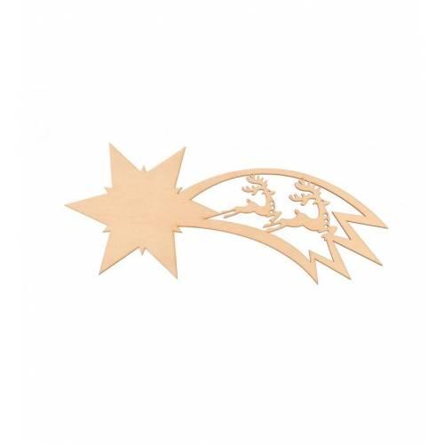 Drewniany dekor gwiazda...