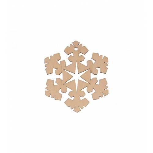 Drewniana zawieszka śnieżka