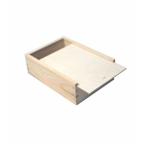 Piórnik drewniany z wysuwaną pokrywą