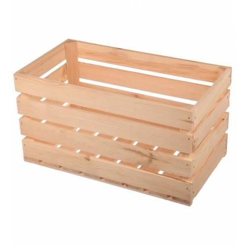 Duża skrzynia wykonana z listew drewnianych 50cm