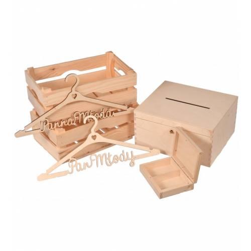 Drewniany Zestaw ŚLUBNY mały