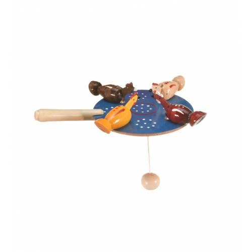 Drewniana zabawka ruchome ptaszki