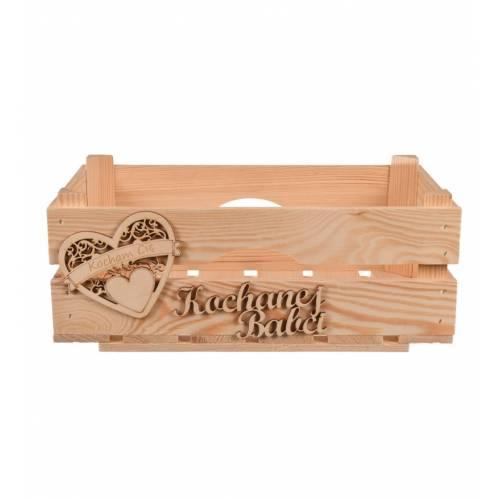 Drewniany koszyk prezentowy...