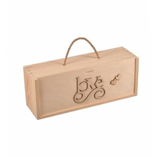 Drewniane pudełko z zasuwką