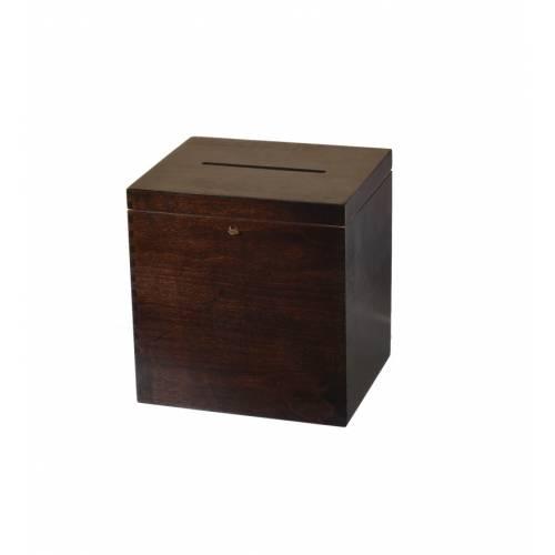 Brązowe pudełko na życzenia