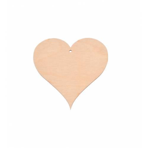 Drewniana zawieszka serce