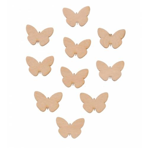 Scrapki drewniane motyle komplet 10szt