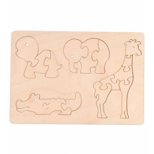 Drewniane puzzle zwierzątka...