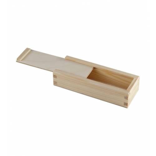 Skrzynka drewniana zasuwana na cygara