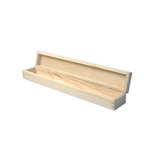 Drewniana skrzynka z naturalnego drewna na świeczkę