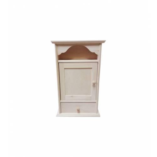 Drewniana szafka na klucze z szufladką