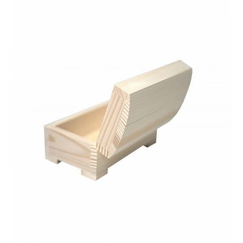 Drewniany kuferek szkatułka 15x9,5cm