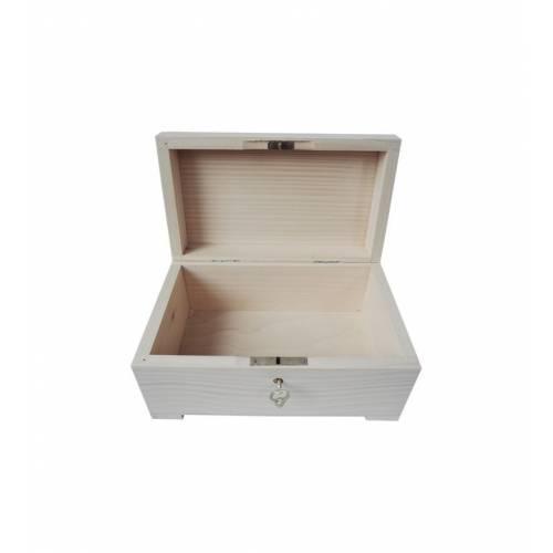 Drewniany kuferek szkatułka 23,5x13,5cm