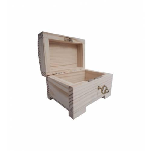Drewniany kuferek szkatułka 11x8x7,5cm