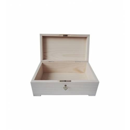 Drewniany kuferek szkatułka 20x12x10,5cm