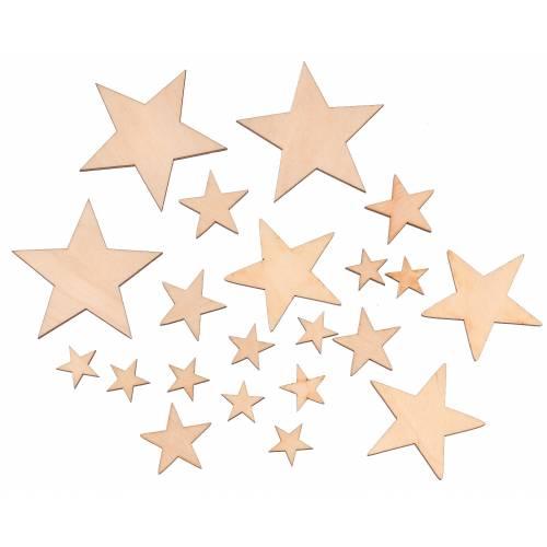 Scrapki gwiazdki komplet