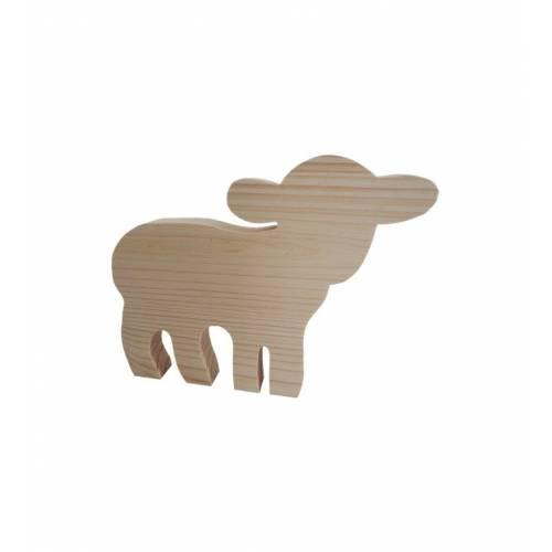 Drewniany szablon owieczka...