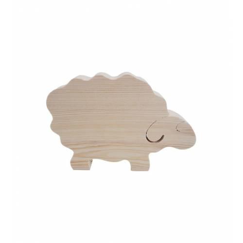 Drewniany szablon baranka figurka do DECOUPAGE