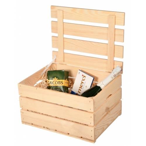 Drewniana skrzynka na prezent duża 40x30x22cm