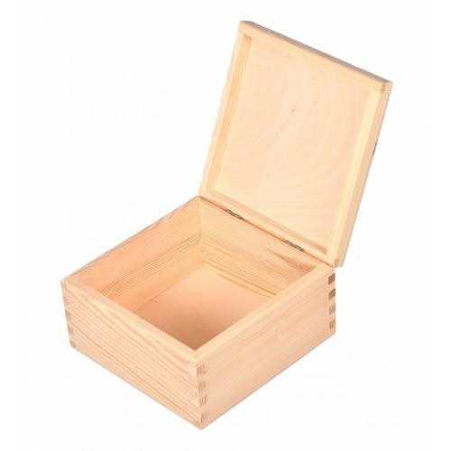 Drewniane pudełko szkatułka 16x16x9cm