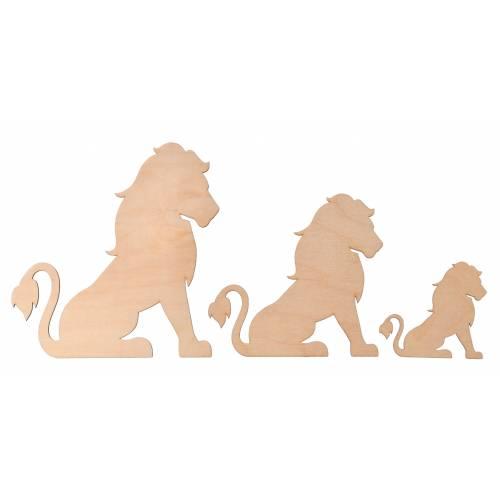 Lew drewniana kolorowanka dla dzieci
