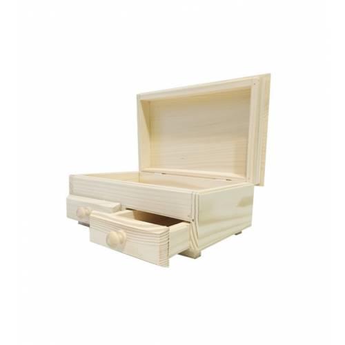 Drewniana szufladka komódka z naturalnego drewna organizator TOALETKA