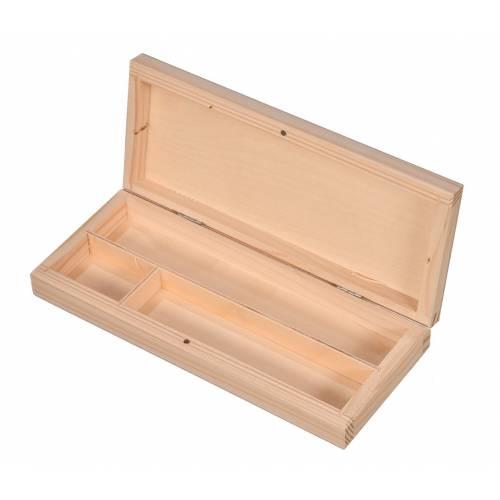Drewniany piórnik na przybory