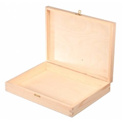 Drewniane pudełko kasetka na A4