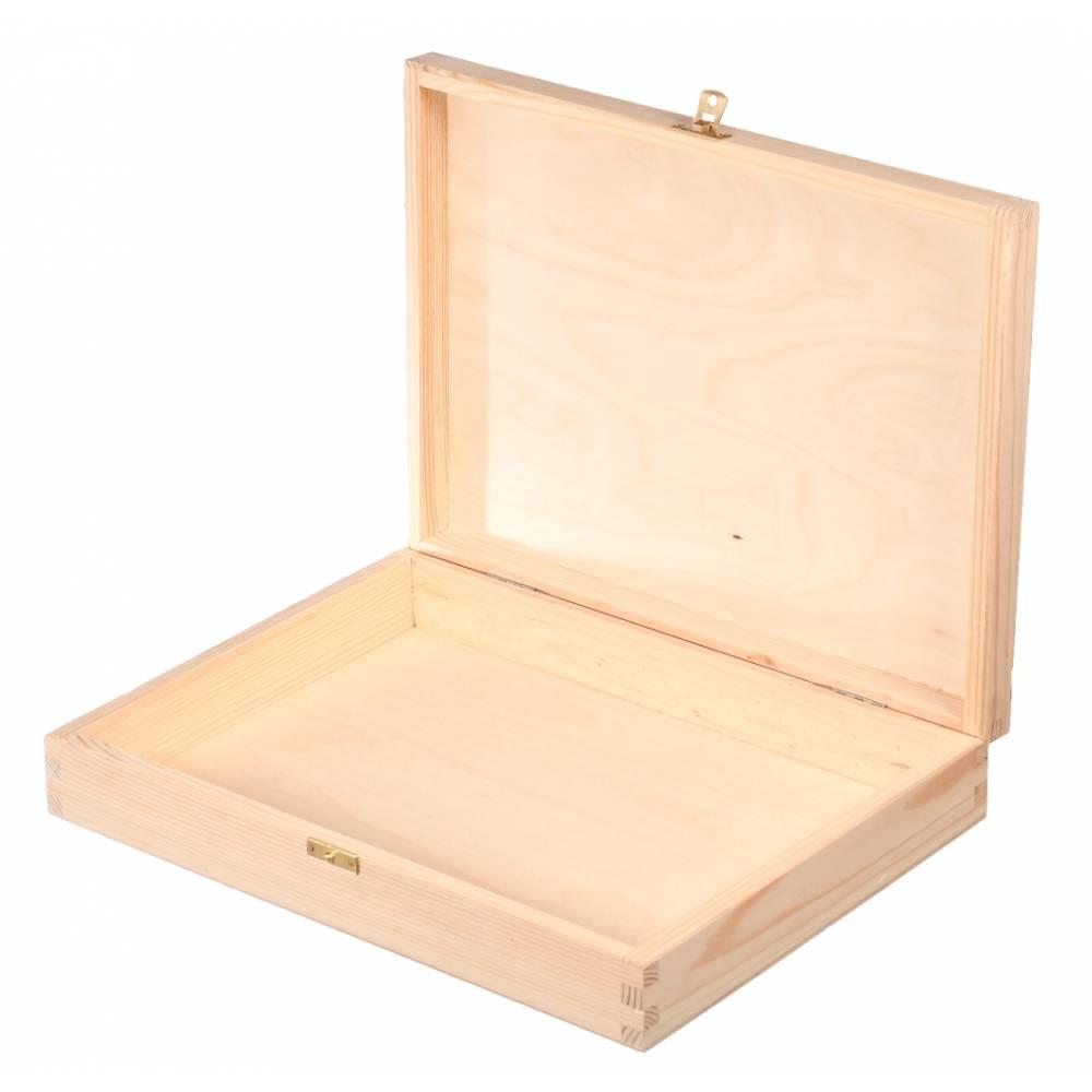 Drewniane pudełko kasetka...