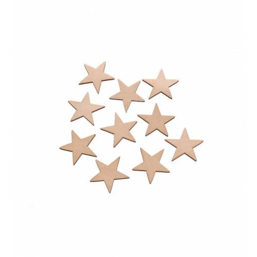 Scrapki drewniane gwiazdki do decoupage komplet 10szt