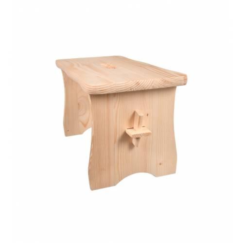 Drewniane krzesełko taboret stołek