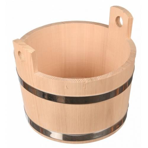 Drewniana beczka cebrzyk 5L sauna hotel restauracja drewno naturalne