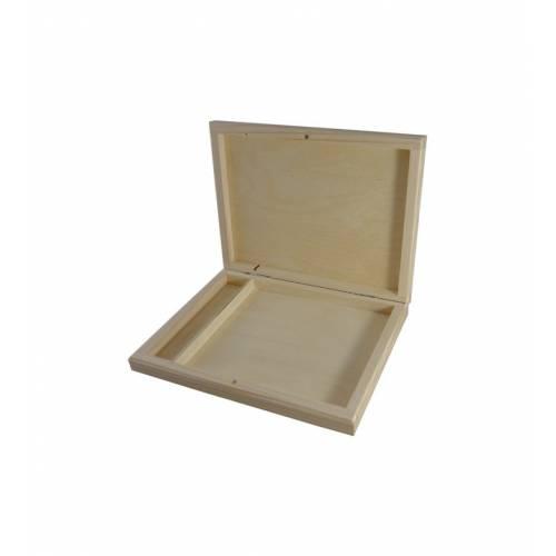 Drewniane pudełko na zdjęcia i pendrive 2
